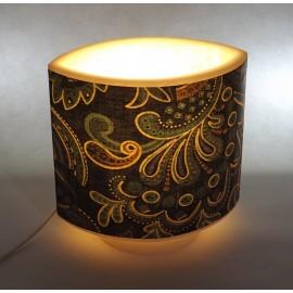 lampe ovale impression tissu
